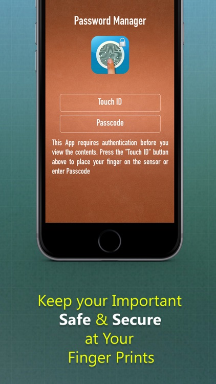 Password Manager - A Secret Vault for Your Digital Wallet with Fingerprint & Passcode screenshot-3