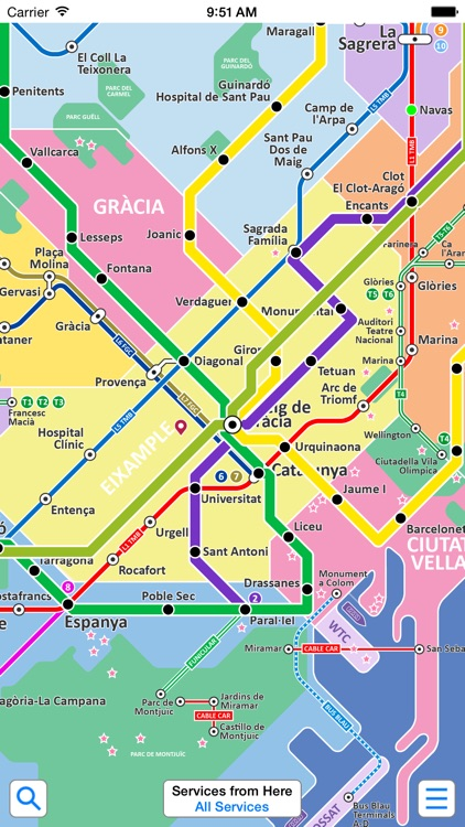Barcelona Metro - Map and route planner by Zuti screenshot-3