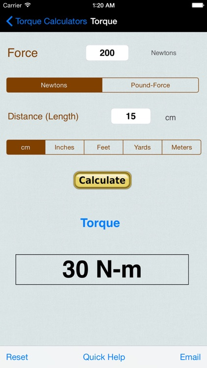 Torque Calculator & Units Converter screenshot-2