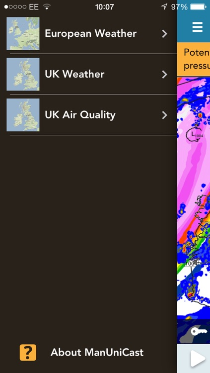ManUniCast: Weather and Air-Quality Forecasts for the UK and Europe screenshot-4