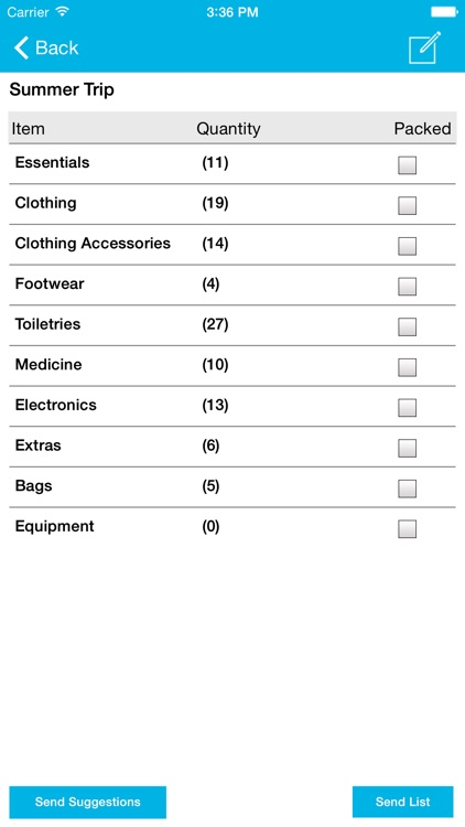 Packing List Free