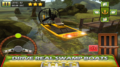 Swamp Boat 3D River Sports Fast Parking Race Game screenshot one