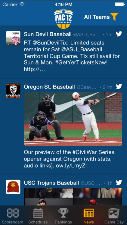 Pac 12 Baseball Schedules & Scores screenshot-4
