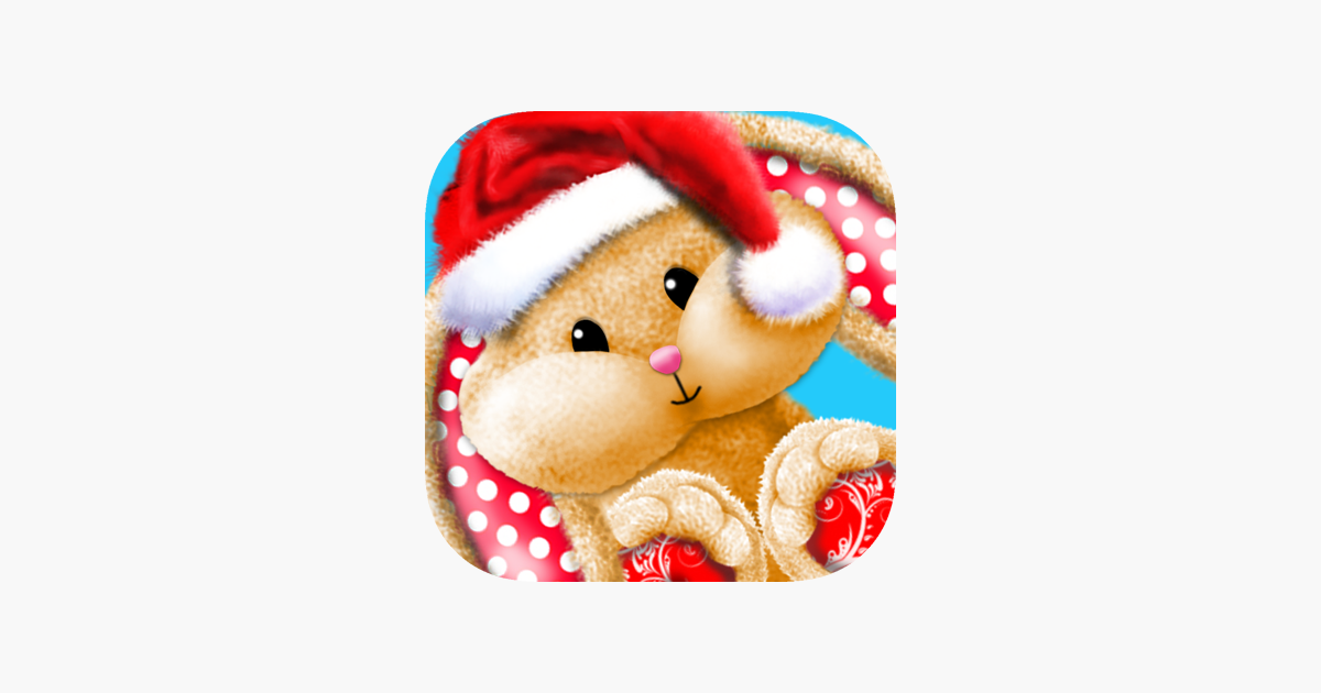 bunny rabbit christmas toys workshop build dress up your favorite dolls send a holiday gift to your family and friends im app store