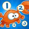 アクティブ! 数えることを学ぶために、海洋動物と子供のためのゲームを数える