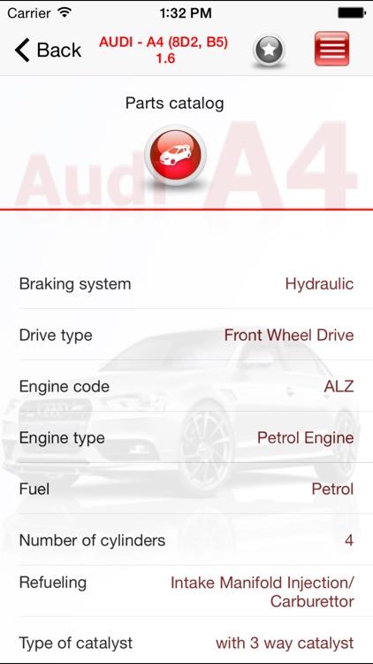 AutoParts  Audi A4 screenshot-4