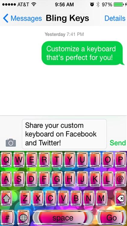 Bling Keys Free Custom Keyboard screenshot-4