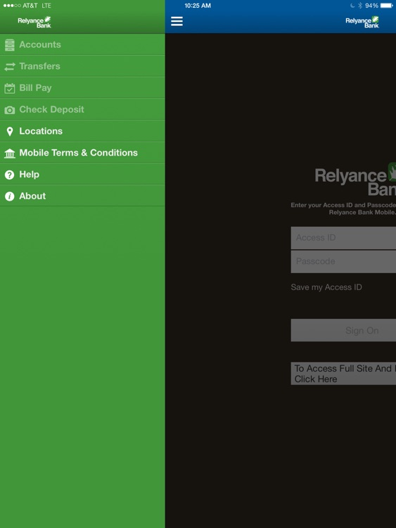Relyance Bank for iPad