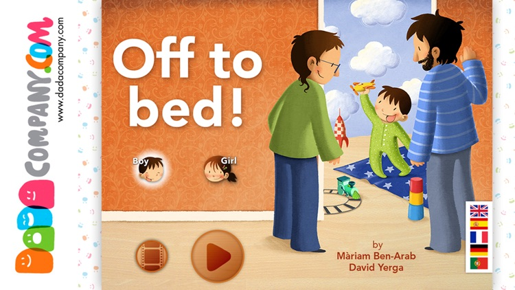 Off to bed! Boys and girls - Interactive lullaby storybook app for bedtime screenshot-0