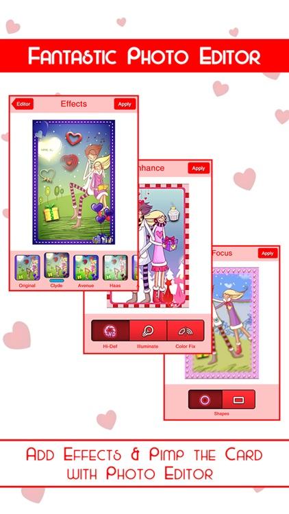 Romantic Card Maker - Love Cards, Romantic Ringtones, SMS & Valentine Countdown screenshot-3