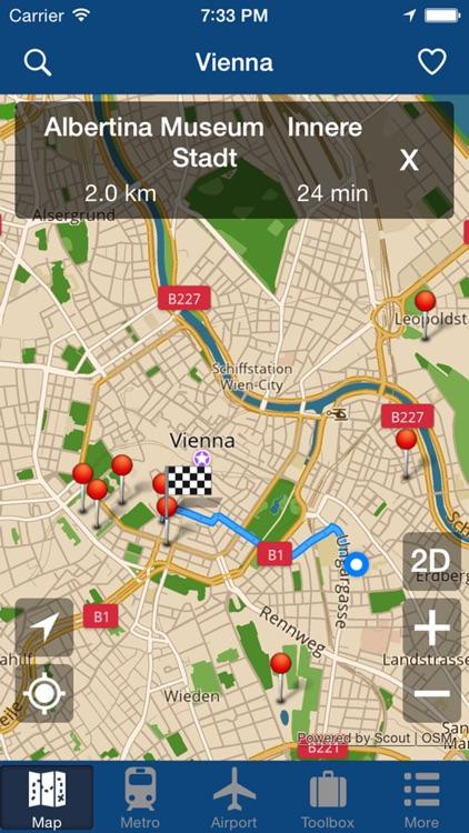 Vienna Offline Map - City Metro Airport screenshot-4