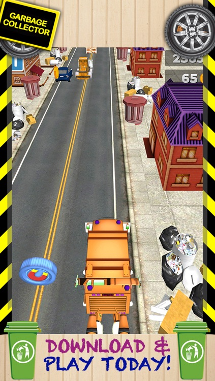 3D Garbage Truck Racing Game With Real City Racer Games And Police Cars FREE screenshot-4