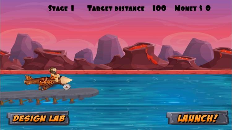 A Caveman Flying Game FREE - Troglodyte Flight Adventure screenshot-3
