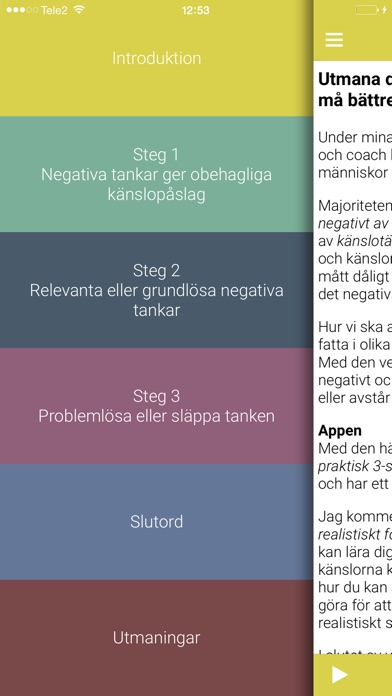 Screenshot for KBT Känslotankar in Sweden App Store