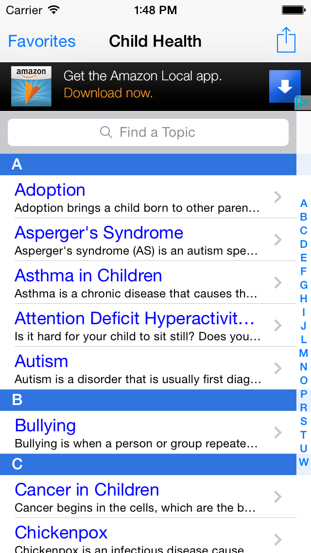 Children's Health: Pediatric Quick Oncall Reference, Baby Health Central and Parenting Help & Advice screenshot one