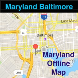 Maryland/Baltimore Offline Map with Real Time Traffic Cameras Pro - Great Road Trip