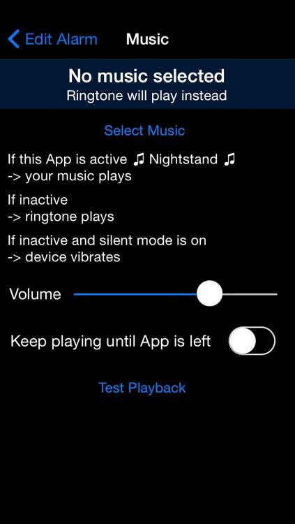 Memory Alarm Clock - Black Edition screenshot-4