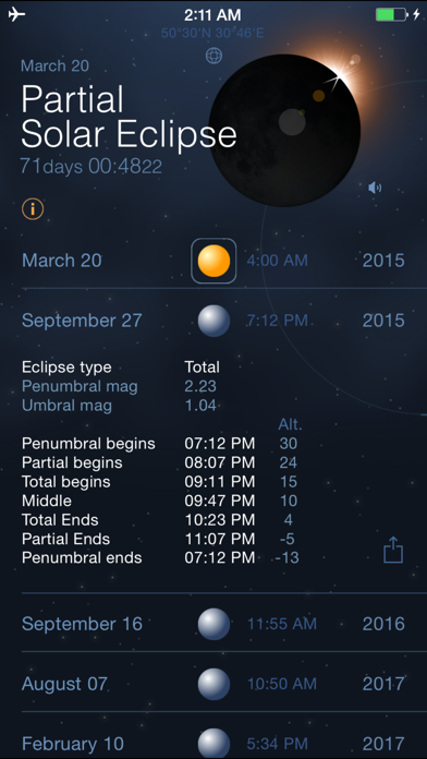 Solar and Lunar Eclipses - Full and Partial Eclipse Calendar på PC