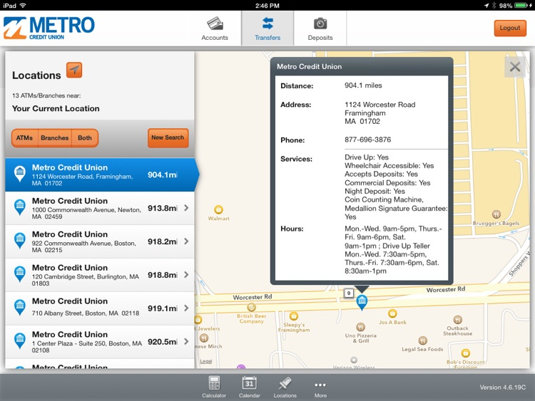 Metro Credit Union for iPad screenshot-4
