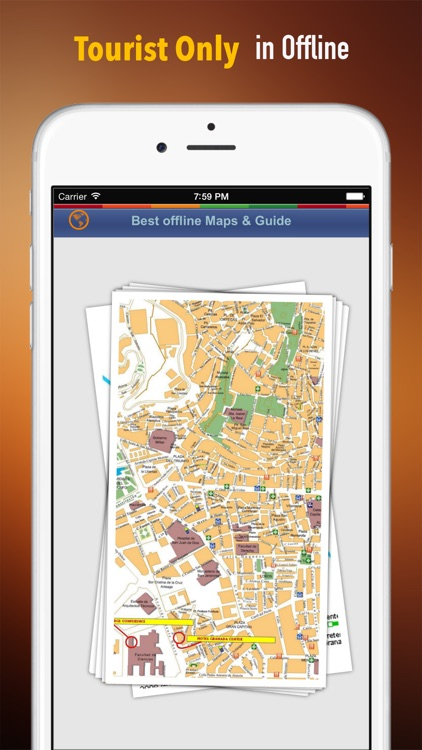 Granada Tour Guide: Best Offline Maps with Street View and Emergency Help Info screenshot-0