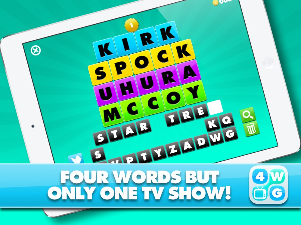 4 Word TV Game HD – Find the link and guess the TV show Cheat Codes