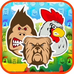 Angry Animals Match-3 Pro Game - Angry Pigs, Bad Birds and war between other furious farm heroes