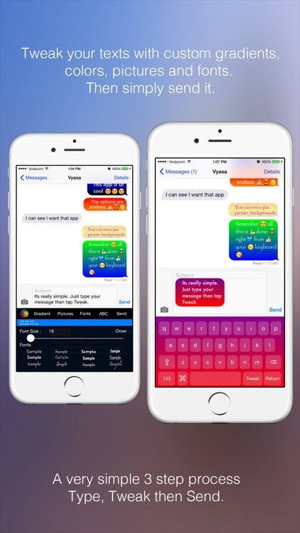 Text Tweaker Keyboard Free - Create Cool Color Message Bubbles with fancy fonts, emoji and theme maker screenshot-3