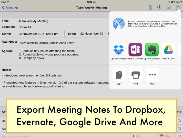 Meeting Notepad screenshot-4