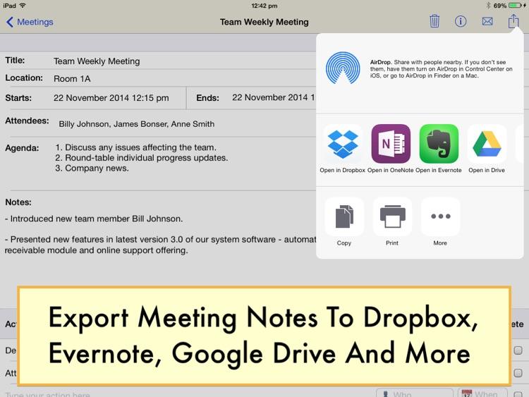 Meeting Notepad screenshot-4