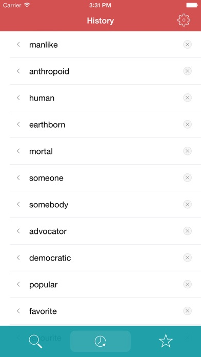 Thesaurus review screenshots