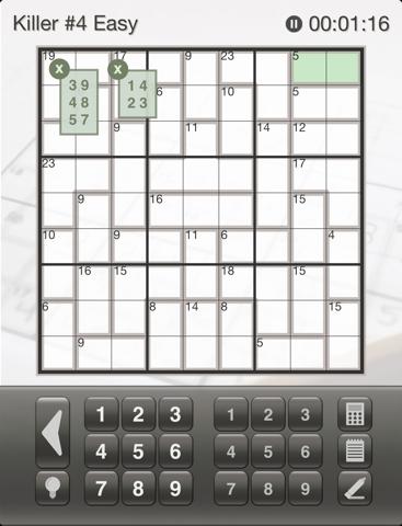 Sudoku Killer: Killer Sudoku Puzzles for Your iPhone and iPad screenshot