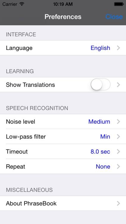 English-German-Russian-Polish-Spanish Talking Travel Phrasebook screenshot-3