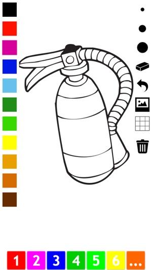 Aktiv! Malbuch der Feuerwehr Für Kinder: Viele Bilder vom ...