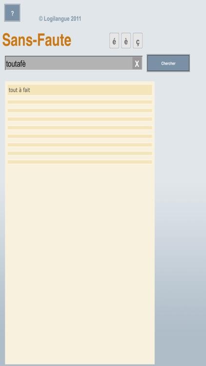 Sans-Faute_Mobile screenshot-3