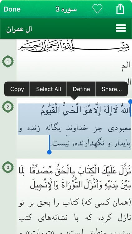Quran Audio mp3 in Farsi / Persian - قرآن صوتی به زبان فارسی و عربی screenshot-4