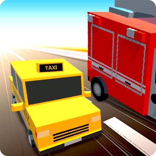 Blocky Racer: Traffic Rush 2015 icon