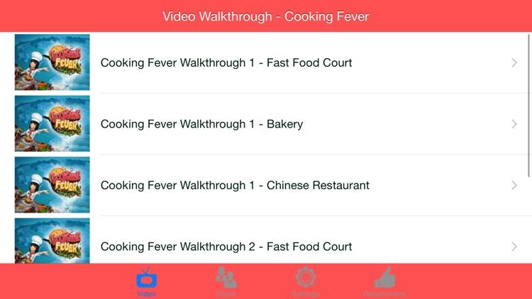 Video Walkthrough for Cooking Fever