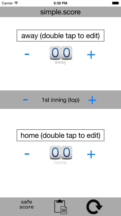 Simple Score - the simplest way to keep score from the bleachers