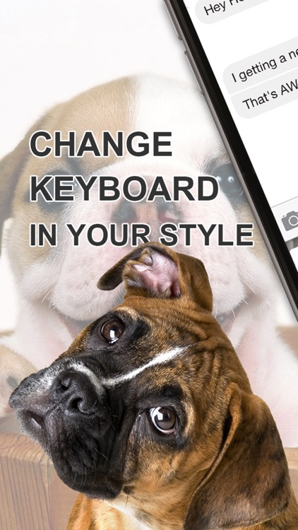 Custom Keyboard Puppy : Cute Color & Wallpaper Keyboard Animal Baby Themes in The Pet Design