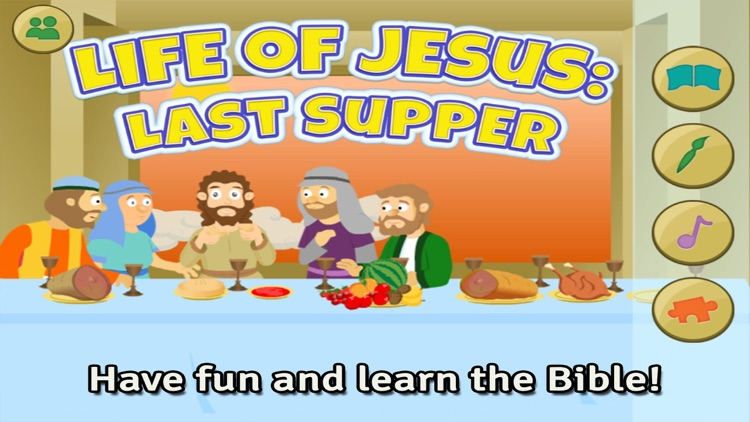 Life of Jesus: Last Supper - Bible Story, Coloring, Singing, and Puzzles for Kids