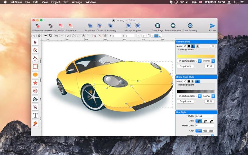 InkDraw - Vector Graphics Editor скриншот программы 1