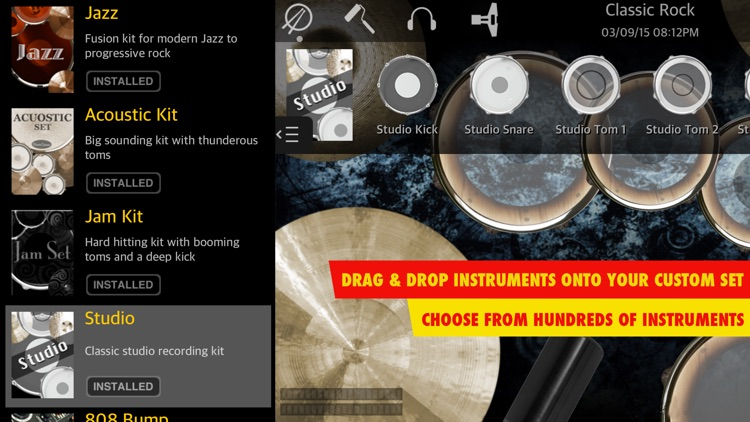Drums XD FREE - Studio Quality Percussion Custom Built By You! - iPhone Version screenshot-4