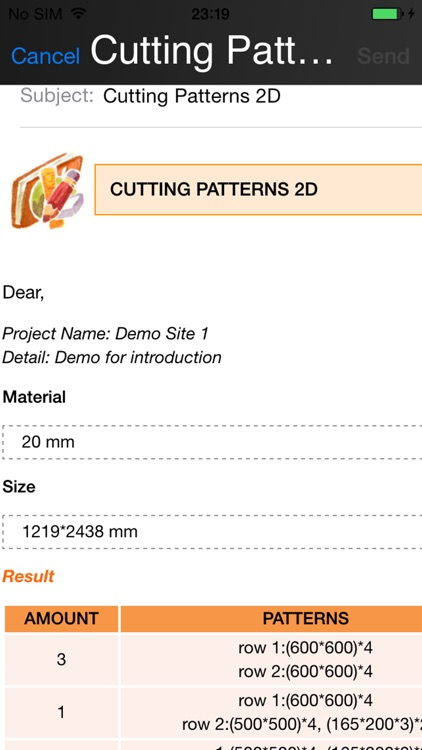 carpenter cutting pattern optimizer 2-dimension screenshot-2