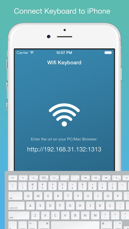 Wifi Keyboard - Connect your keyboard to iPhone/iPad with Wifi