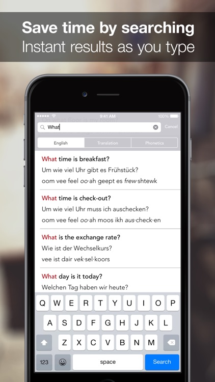 SpeakEasy German ~ Offline Phrasebook and Flashcards with Native Speaker Voice and Phonetics