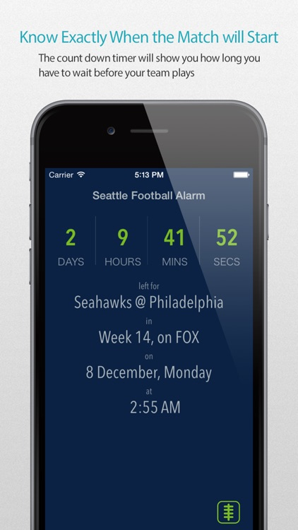 Seattle Football Alarm Pro screenshot-0
