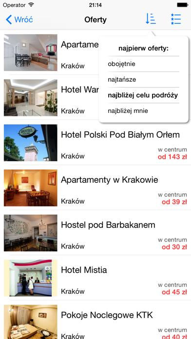 Noclegi, Hotele w Polsce screenshot two