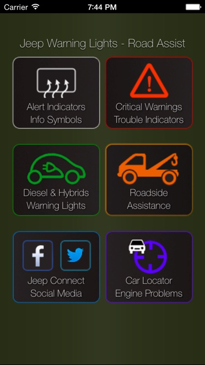 App for Jeeps - Jeep Warning Lights & Road Assistance - Car Locator