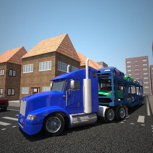 Car Transporter Truck Drive 3D
