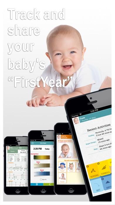 FirstYear - Baby feeding timer, sleep, nappie log